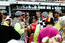 (c) under License to London News Pictures 02/11/2010. Racegoers dressed up as Jockeys and in fine spirits ahead of the 2010 Melbourne cup.