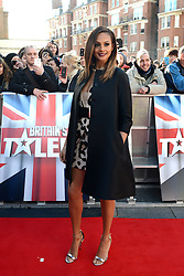 Britain's Got Talent. Alesha Dixon arrives to Britain's Got Talent at Hammersmith Apollo. Hammersmith Apollo, London, United Kingdom. Thursday, 13th February 2014 Picture by Peter Kollanyi / i-Images
