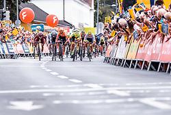 08.07.2019, Wiener Neustadt, AUT, Ö-Tour, Österreich Radrundfahrt, 2. Etappe, von Zwettl nach Wiener Neustadt (176,9 km), im Bild Zielsprint // Zielsprint during 2nd stage from Zwettl to Wiener Neustadt (176,9 km) of the 2019 Tour of Austria. Wiener Neustadt, Austria on 2019/07/08. EXPA Pictures © 2019, PhotoCredit: EXPA/ JFK
