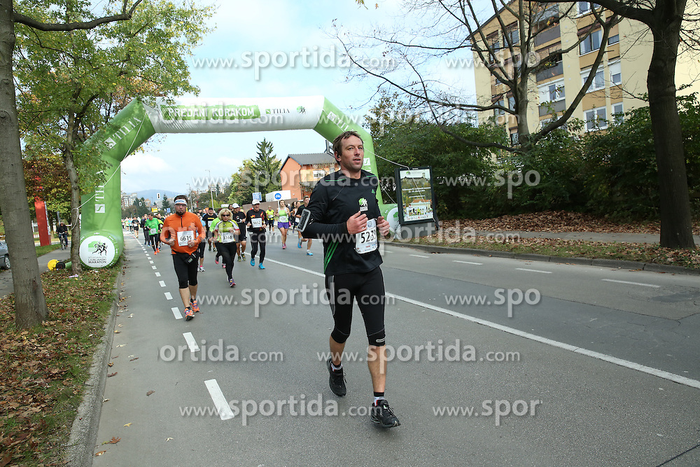 Zoran Lubej compete during 21km and 42km run at 19th Ljubljana Marathon 2014 on October 26, 2014 in Ljubljana, Slovenia. Photo by Vid Ponikvar / Sportida.com