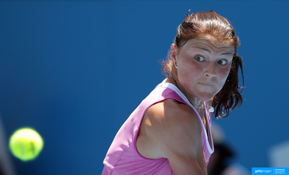 Dinara Safina of Russia on her way to victory over Ai Sugiyama of Japan in the Women's Semi Final match at the Medibank International Sydney Tennis Tournament on January 15, 2009 in Sydney, Australia. Photo Tim Clayton