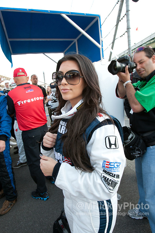 Kim Kardashian seen at the Indianapolis Motor Speedway during Indy 500 weekend.<br /> Photo by Michael Hickey