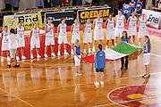 DESCRIZIONE : Schio Qualificazione Eurobasket Women 2009 Italia Bosnia <br /> GIOCATORE : Team Italia Team Italy National Anthem Inno Nazionale <br /> SQUADRA : Nazionale Italia Donne <br /> EVENTO : Raduno Collegiale Nazionale Femminile <br /> GARA : Italia Bosnia Italy Bosnia <br /> DATA : 06/09/2008 <br /> CATEGORIA : Ritratto <br /> SPORT : Pallacanestro <br /> AUTORE : Agenzia Ciamillo-Castoria/S.Silvestri <br /> Galleria : Fip Nazionali 2008 <br /> Fotonotizia : Schio Qualificazione Eurobasket Women 2009 Italia Bosnia <br /> Predefinita :
