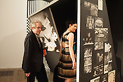 NICK RHODES; NEFER SUVIO, Richard Hamilton opening, Tate Modern. London. 11 February 2014