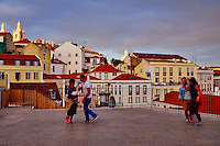 Portugal, Lisbonne, quartier de l'Alfama, belvédère de Santa Luzia // Portugal, Lisbon, Alfama from Santa Luzia belvedere