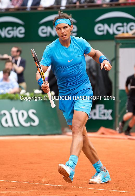 Rafael Nadal (ESP) macht die Faust und jubelt,Jubel,Emotion,<br /> <br /> Tennis - French Open 2015 - Grand Slam ITF / ATP / WTA -  Roland Garros - Paris -  - France  - 26 May 2015.