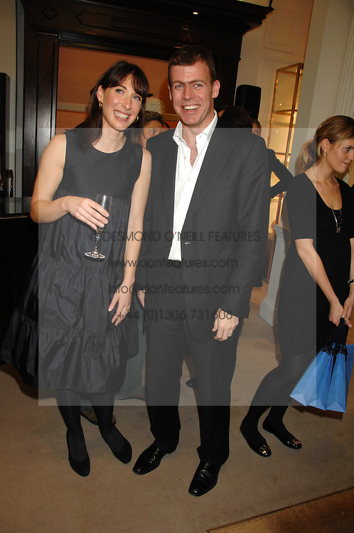SAMANTHA CAMERON and PADDY BYNG CEO of Smythson at a party to celebrate the launch of the book 'Long Way Down' by Ewan McGregor and Charley Boorman held at Smythson, 40 New Bond Street, London W1 on 19th November 2007,<br />