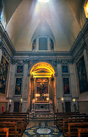 """Sun rays from the dome of the Cesi chapel - Basilica of Santa Maria Maggiore""...<br />