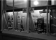 01/07/1963<br /> 07/01/1963<br /> 01 July 1963<br /> Smithwicks Window Display at a pub on Thomas Street, Dublin. Overall display was incomplete with stickers falling down and condensation and a broken window pane. So the photographers improvised and focused on the two parts that were complete!