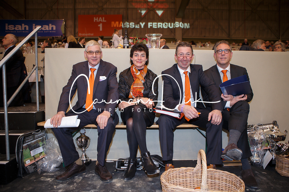 Jury, Ernes Wim, (NED), Dorresteijn Marian, (NED), Versteeg Wim, (NED), Van Woudenbergh Reijer, (NED)<br /> KWPN Henstenkeuring 's Hertogenbosch 2015<br /> © Dirk Caremans