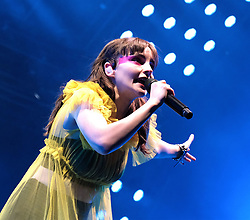 "Chvrches, Love Is Dead Tour, Glasgow Hydro, Saturday 16th February 2019<br /> <br /> Scottish band Chvrches performed at the SSE Hydro in Glasgow as part of their ""Love Is Dead"" tour celebrating their third album of the same name.<br /> <br /> The band consists of Lauren Mayberry (singer), Iain Cook (synthesizers and guitars) and Martin Doherty (synthesizers)<br /> <br /> Pictured: Lauren Mayberry<br /> <br /> Aimee Todd 