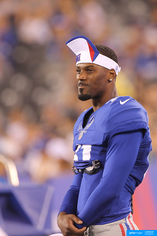Aaron Ross, New York Giants, during the New York Giants V Indianapolis Colts, NFL American Football Pre Season match at MetLife Stadium, East Rutherford, NJ, USA. 18th December 2013. Photo Tim Clayton