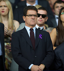 LIVERPOOL, ENGLAND - Saturday, October 1, 2011: England manager Fabio Capello during the Premiership match between Everton and Liverpool at Goodison Park. (Pic by David Rawcliffe/Propaganda)