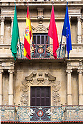 Ayuntamiento town hall in Plaza Consistorial (Udaletxe Plaza)   in Pamplona, Navarre, Northern Spain