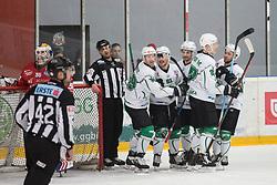 HK SZ Olimpija celebrating during Alps League Ice Hockey match between HDD SIJ Jesenice and HK SZ Olimpija on December 20, 2019 in Ice Arena Podmezakla, Jesenice, Slovenia. Photo by Peter Podobnik / Sportida