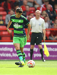 Jack Cork of Swansea City in action<br /> <br />  - Mandatory by-line: Jack Phillips/JMP - 25/07/2015 - SPORT - FOOTBALL - Nottingham - The City Ground - Nottingham Forest v Swansea - Pre-Season Friendly