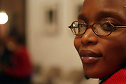 Delphine Fauwndu-Buford at Artist talk of ' Shoot-Out: Lonely Crusade..An Homage to Jamel Shabazz ' held at The George and Leah McKenna African American Museum of Art on December 12, 2008 in New Orleans, Louisana