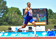 Matthew Hudson-Smith (GB) in the 300m during the Sainsbury's Birmingham Grand Prix IAAF Diamond League Meeting at Alexandra Stadium, Birmingham, West Midlands, England on June  07  2015. (Steve Flynn/Image of Sport)