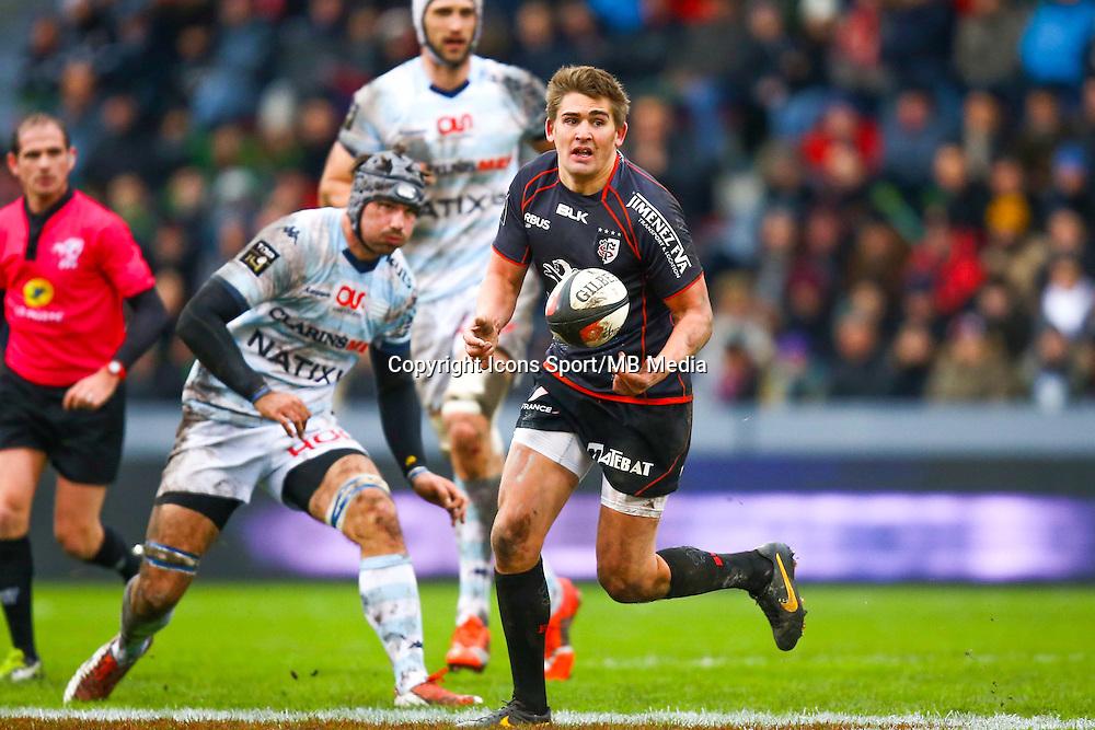 Toby Flood - 28.12.2014 - Toulouse / Racing Metro - 14eme journee de Top 14 <br /> Photo :  Manuel Blondeau / Icon Sport