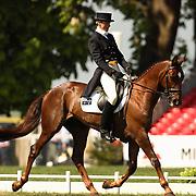 Lucinda Fredericks (AUS) and Headley Britannia and  at the 2007 Mitsubishi Motors Badminton Horse Trials.
