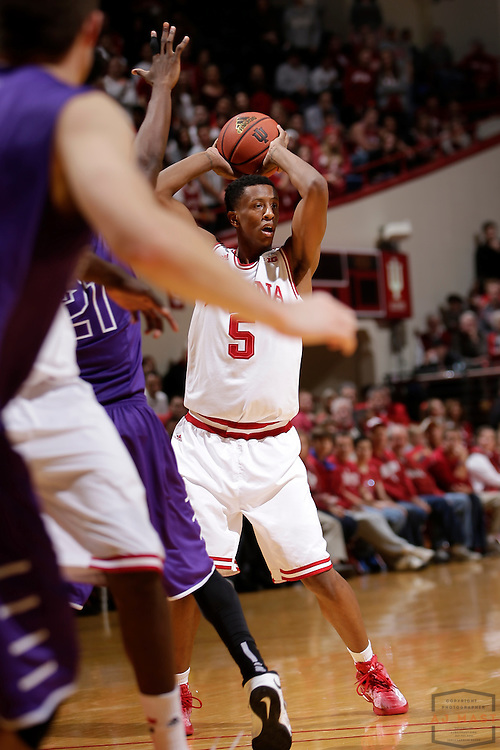 Indiana forward Troy Williams (5) as Grand Canyon played Indiana in an NCAA college basketball game in Bloomington, Ind., Saturday, Dec. 13, 2014. (AJ Mast/Photo)