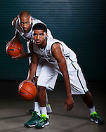 9/19/13 9:38:58 AM -- Lansing, MI, U.S.A  -- Basketball players Adriean Payne and Garry Harris will represent Michigan State as one of our Sports Weekly season preview covers. --    Photo by USA TODAY Sports Images, Gannett