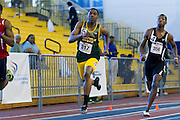Norfolk State's Damian Smith during the Men's 400 Meter Dash during the 2013 MEAC Men's and Women's Indoor Track and Field Championships at the Prince George's Sports and Learning Complex in Landover, Maryland.  February 15, 2013  (Photo by Mark W. Sutton)
