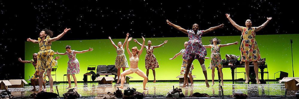Fabulous Beast Dance Theatre<br /> The Rite of Spring &amp; Petrushka<br /> at Sadler's Wells, London, Great Britain <br /> rehearsal <br /> 10th April 2013 <br /> <br /> Olwen Fouere<br /> Anna Kaszuba<br /> Saju Hari <br /> Saku Koistinen<br /> Bill Lengfelder<br /> Innpang Oooi <br /> Louise Mochia<br /> Keir Patrick <br /> Emmanuel Obeya<br /> Rachel Poirier<br /> Ino Riga<br /> Brooke Smiley <br /> Sanja Bizjak <br /> Lidija Bizjak <br /> <br /> Photograph by Elliott Franks