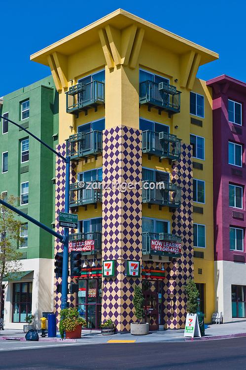 Little, Italy, urban, neighborhood, San Diego, Ca, India street High dynamic range imaging (HDRI or HDR)
