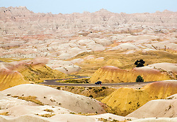 Interior, South Dakota;  Yellow Mound Overlook area of Badlands National Park.