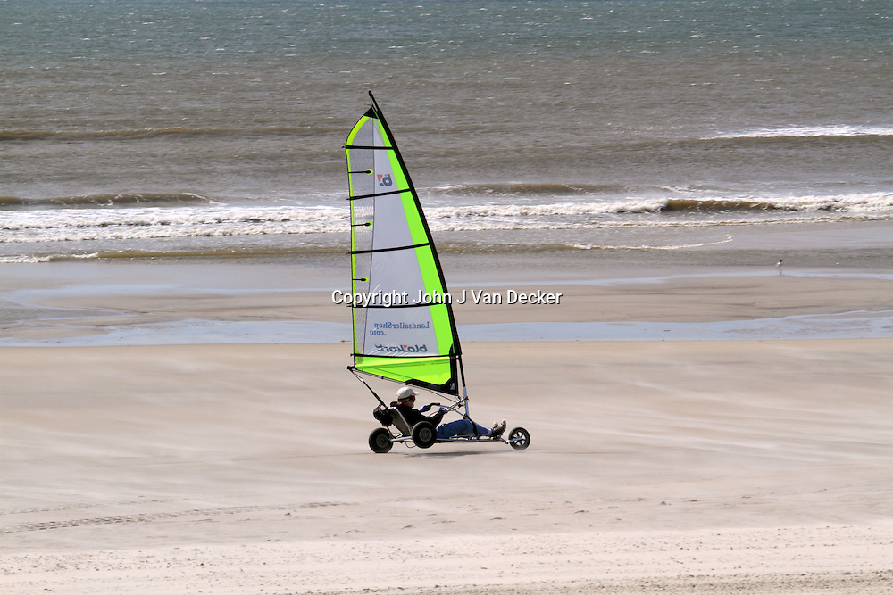 Land Sailing, Sand Yachting or Land Yachting, Wildwood Crest, New Jersey