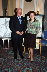 MICHAEL WYNNE PARKER and artist VERA PROTASOVA at a party to celebrate the publication of 'Reflections in Middle Years' by Michael Wynne Parker was held at the Royal Airforce Club, 128 Piccadilly, London on 12th May 2005.<br />