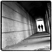 11/14/2002-2002 Holiday Giving Guide. Many transients and homeless men use the underpass beneath the Norfolk Southern Mainline on N. Tryon St. to walk to The Uptown Men's Shelter. The Uptown Men's Shelter  encourages them to actively look for jobs. WENDY YANG/STAFF PHOTO