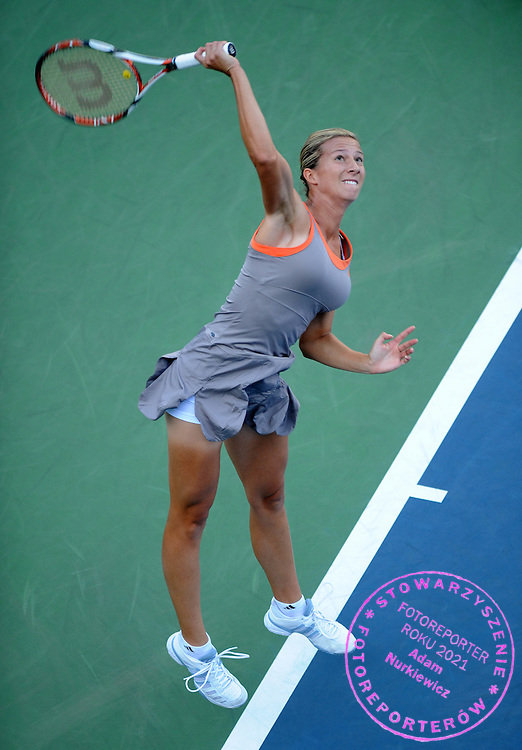 US  Open Tennis 2008 Flushing Meadows New York 26/08/2008.Marta Domachowska (POL) loses  first round match.Photo Roger Parker  Fotosports Interntional