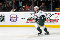 KELOWNA, BC - SEPTEMBER 28: Aidan Sutter #44 of the Everett Silvertips skates against the Kelowna Rockets   at Prospera Place on September 28, 2019 in Kelowna, Canada. (Photo by Marissa Baecker/Shoot the Breeze)