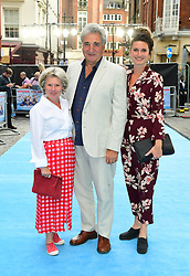 (left to right) Imelda Staunton, Jim Carter and Bessie Carter attending the Swimming with Men premiere held at Curzon Mayfair, London.