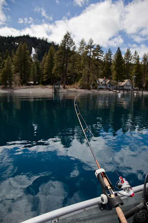 """Fishing Pole on Lake Tahoe 5"" - This fishing pole was photographed on the West shore of Lake Tahoe."