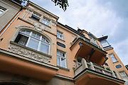 Jugendstilhaus alte Post, Weißer Hirsch, Dresden, Sachsen, Deutschland.|.art nouveau building,  Weisser Hirsch, Dresden, Germany