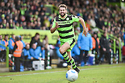 Forest Green Rovers Defender, Aarran Racine (21) during the Vanarama National League match between Forest Green Rovers and Lincoln City at the New Lawn, Forest Green, United Kingdom on 19 November 2016. Photo by Adam Rivers.