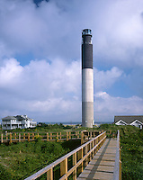 AA05901-01...NORTH CAROLINA - Oak Island Lighthouse on Long Bay near the mouth of the Cape Fear River.
