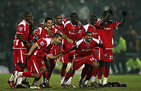 Photo: Paul Thomas.<br /> Chesterfield Town v Charlton Athletic. Carling Cup. <br /> <br /> Charlton celebrate.