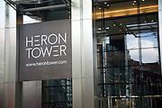 Heron Tower designed by architects Kohn Pedersen Fox, City of London, England