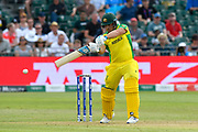 Aaron Finch of Australia plays an attacking shot during the ICC Cricket World Cup 2019 match between Afghanistan and Australia at the Bristol County Ground, Bristol, United Kingdom on 1 June 2019.