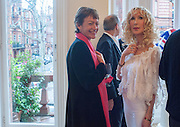 SUSIE TOPOLSKI; BASIA BRIGGS, Party given by Basia Briggs and Richard Briggs at their home in Chelsea. London. 14 May 2012