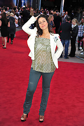 © Licensed to London News Pictures. 11/08/2011. London, England.Julia Bradbury  attends the U.K premiere of Cowboys and Aliens Starring Harrison Ford and Daniel Craig at the O2 Cineworld London Photo credit : ALAN ROXBOROUGH/LNP