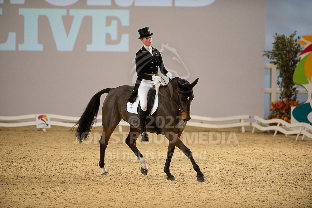 Lucy Jackson (NZL) & Animator - Dressage - Express Eventing - Horse World Live - ExCel London - 17 November 2012