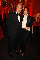 MASSIMO & SARA CARELLO at a dinner held at the Natural History Museum to celebrate the re-opening of their store at 175-177 New Bond Street, London on 17th October 2007.<br />