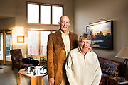 Dr. Ernest Borden and his wife, Louise -- both alumni of Duke University -- are pictured at their home near Sun Prairie, Wis., on Feb. 23, 2018. Ernest Borden graduated from Duke with an MD in 1966. Louise graduated from Duke with a BSM in 1963. (Photo by Jeff Miller - www.jeffmillerphotography.com)