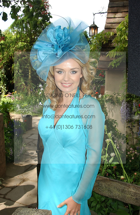 Singer KATHERINE JENKINS at the 2005 RHS Chelsea Flower Show on 23rd May 2005<br />