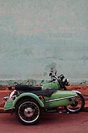 Motorcycle in Vinales, Pinar del Rio, Cuba.